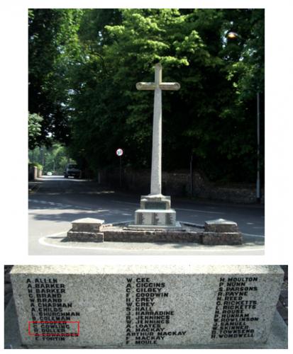 War Memorial, Sawston, Cambridgeshire (author's photograph)